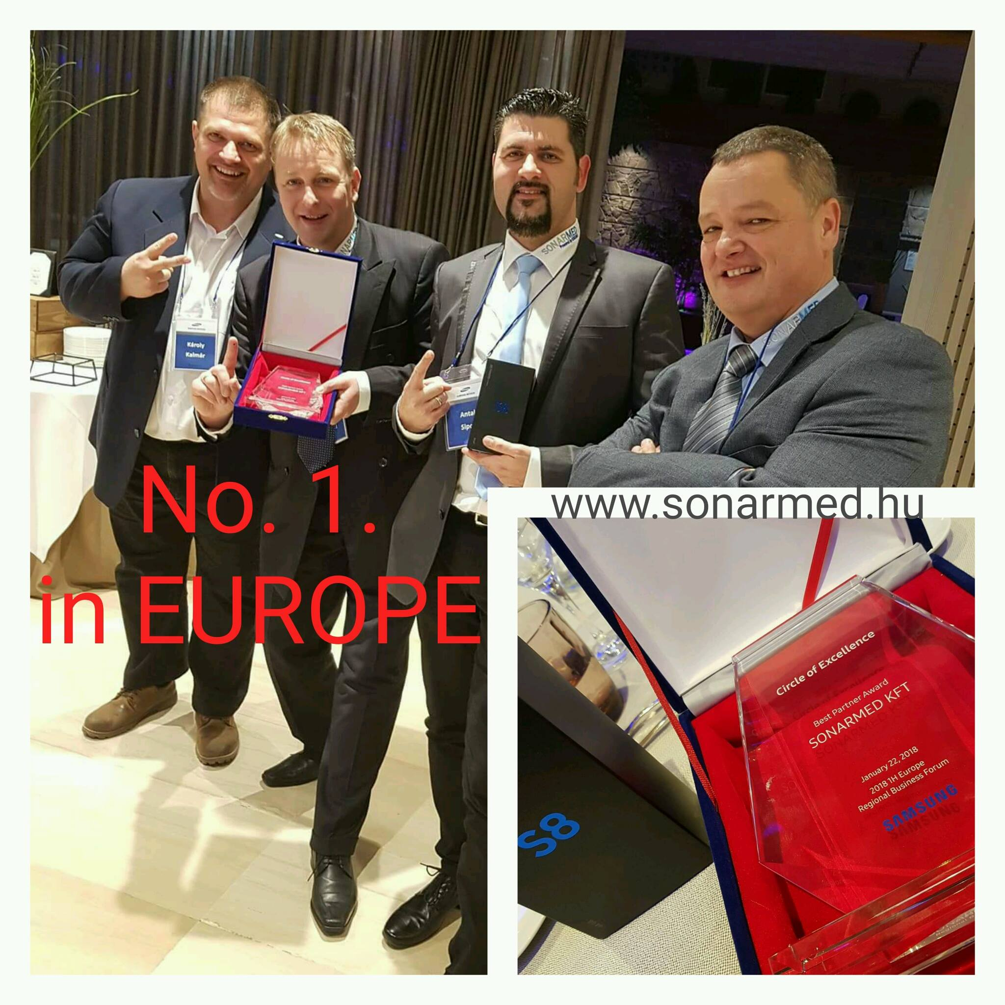 2018 Samsung Regional Business Forum Barcelona - Best Partner - SONARMED