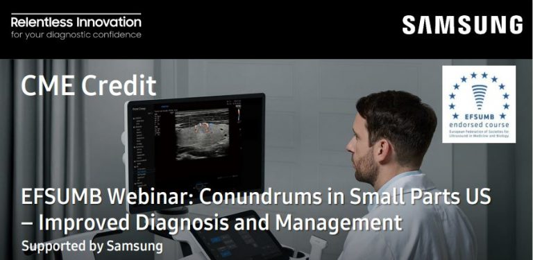 EFSUMB Webinar Conundrums in Small Parts US – Improved Diagnosis and Management 2021.05.13 - head image