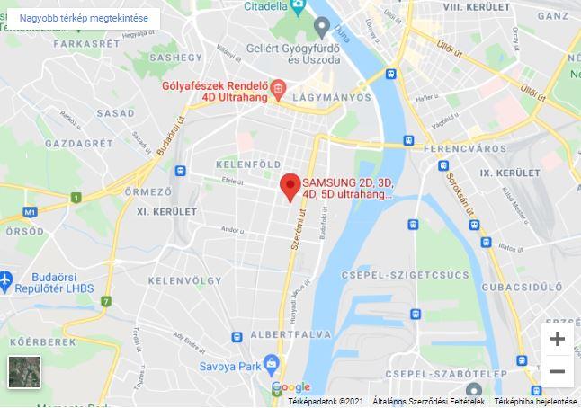SONARMED - Samsung ultrahang készülékek irodájának térképe