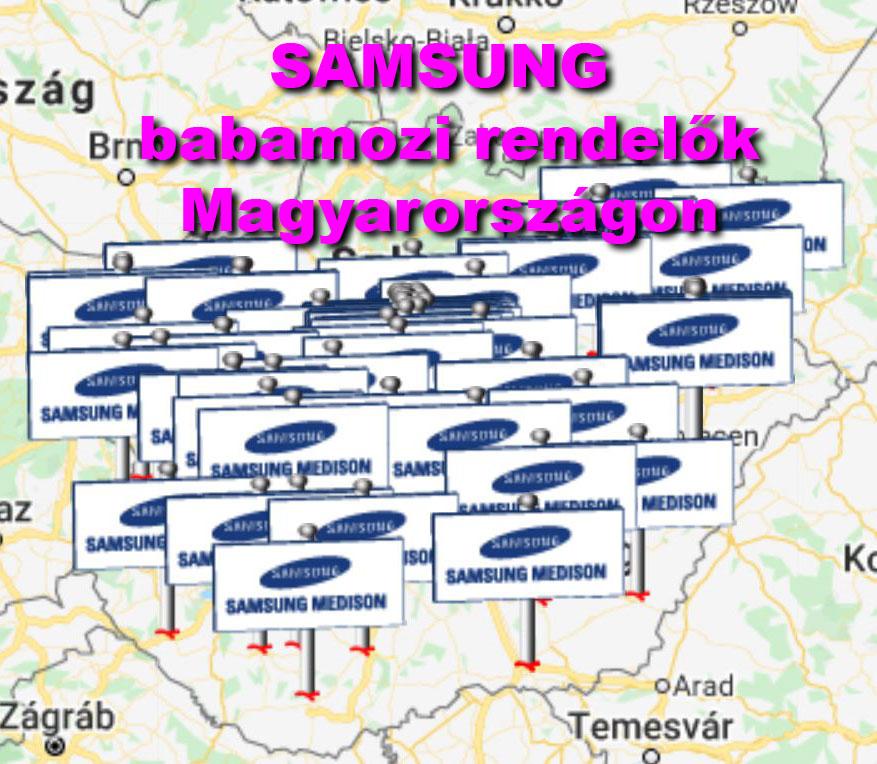 Samsung babamozi rendelők Magyarországon